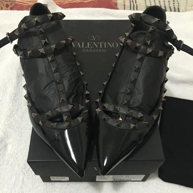 Valentino Rock Studded Flat (NOIR) EU 41