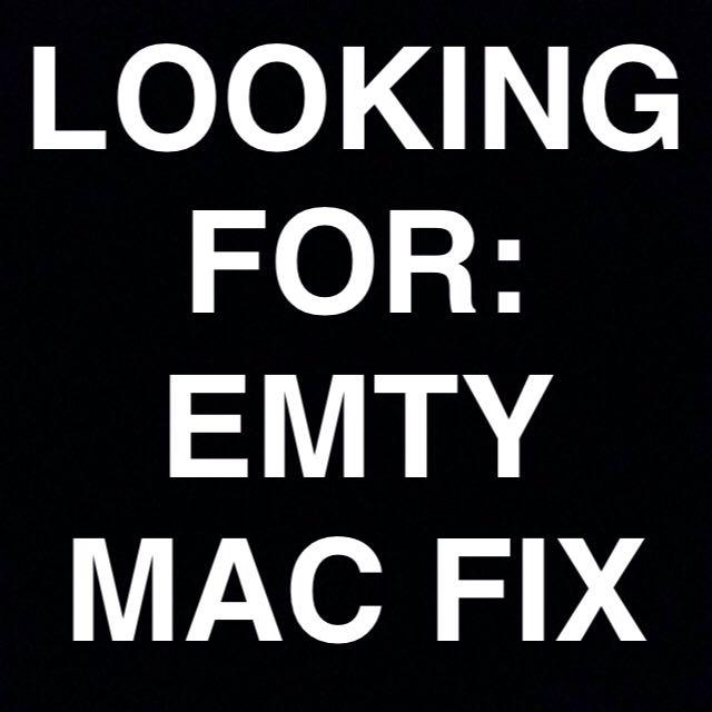 Wanting To Buy/trade Empty Mac Fix + Spray
