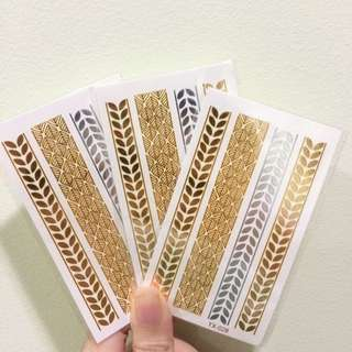 🆓💌 Temporary Gold Tattoos (Small)
