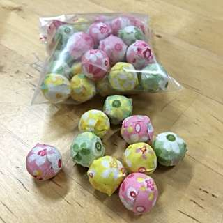 (GSS SALE!!) Brand New Assorted Fabric Beads