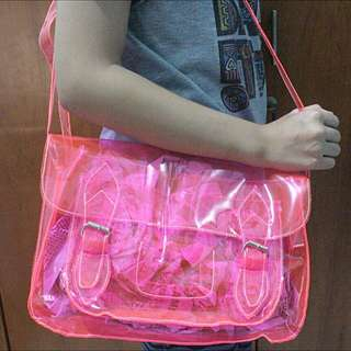 Mika Neon Bag Transparent