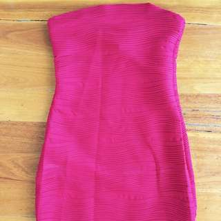 Red Strapless Dress Size Small