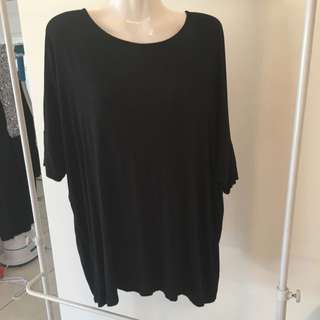 Seed Heritage Relaxed Fit Jersey Top Black XS