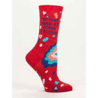 I am Not here to Make Friends - Women's Crew Socks - Blue Q
