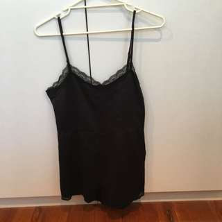 Minkpink Black Playsuit Size Small