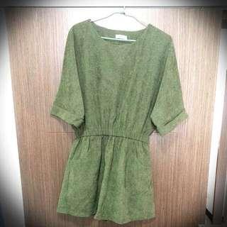 韓版五分袖洋裝