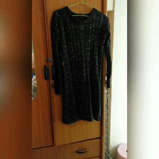 針織長版衣