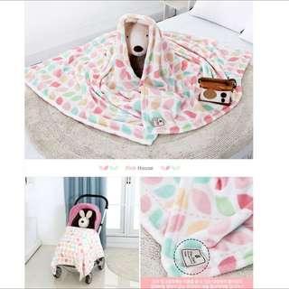 Multi Purpose Microfiber Blankets ~ Stroller Blankets Office Blankets Nursery Blankets Children Kids Blankets