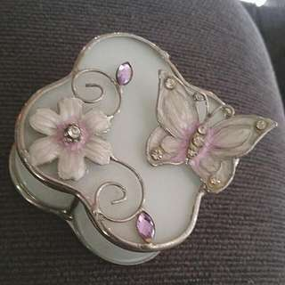 Butterfly Jewellery Box With Internal Mirror