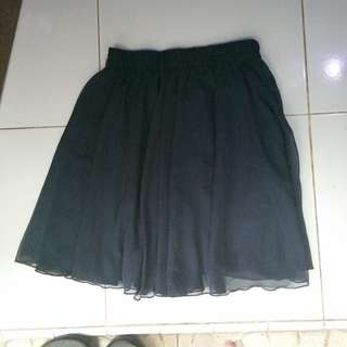Rok Pendek Chiffon (dark blue skirt)
