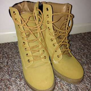 London Rebel High Heeled Timberlands