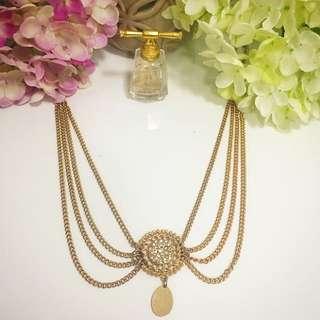 Colette Gold Necklace/head Piece