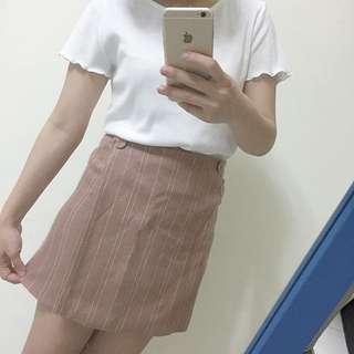 杏色拉鏈裙