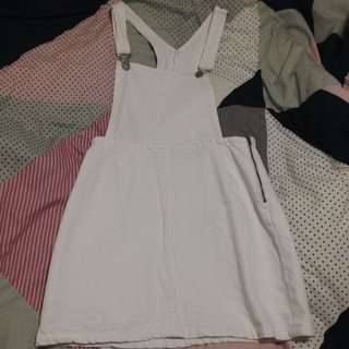 FACTORIE WHITE PINAFORE DRESS
