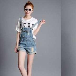 Korea Style Jean Jumpsuit