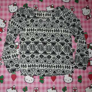 Top Tribal Black And White