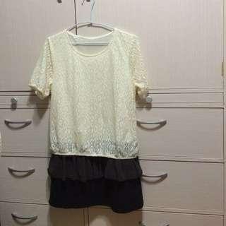 連身短洋裝