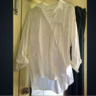 White Boyfriend Dress Shirt