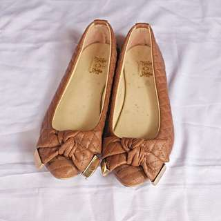 Flatshoes Ribbons Brown (Unbrand)