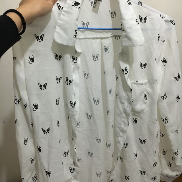 狗頭雪紡襯衫