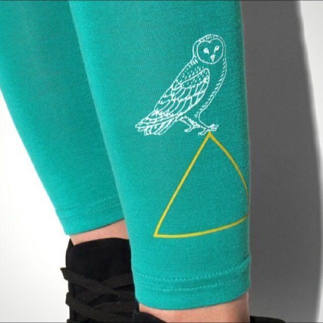 湖水綠 貓頭鷹設計內搭褲