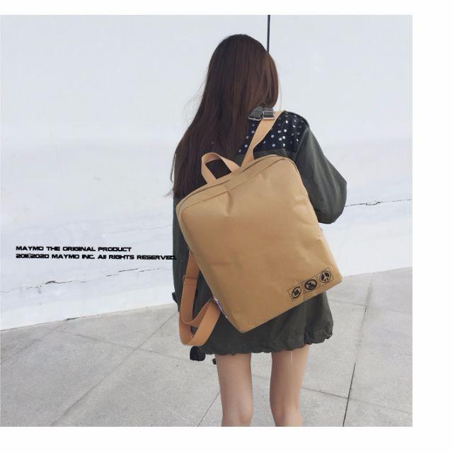 【預購】原創日系復古文藝牛皮紙後背包休閒旅行背包
