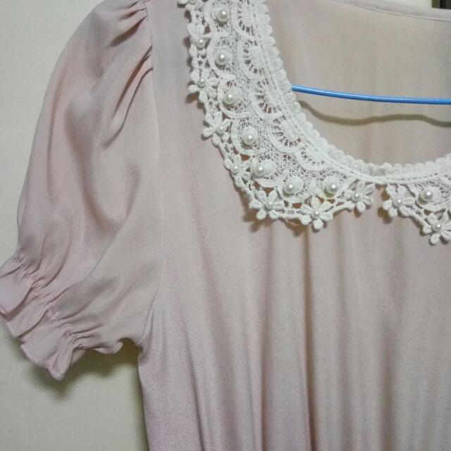 蕾絲雪紡洋裝