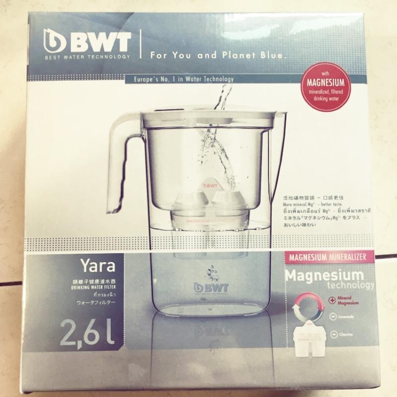 德國 BWT 倍世 Yara 2.6L Mg2+ 鎂離子 健康 濾水壺 淨水器