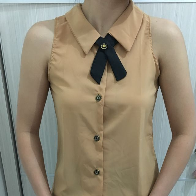 Collar Top (brown)