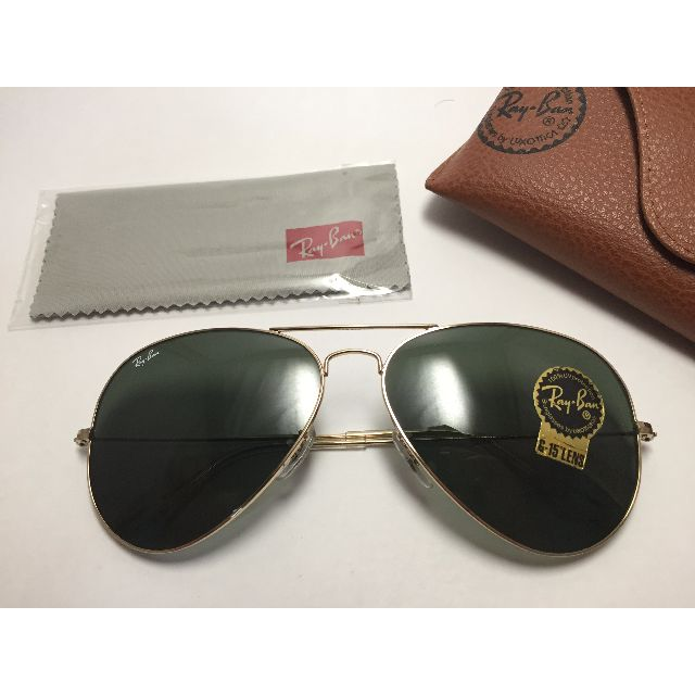810c78ae90 Authentic Ray Ban Aviator RB3025 001 62-14 Gold Frame Green Classic ...