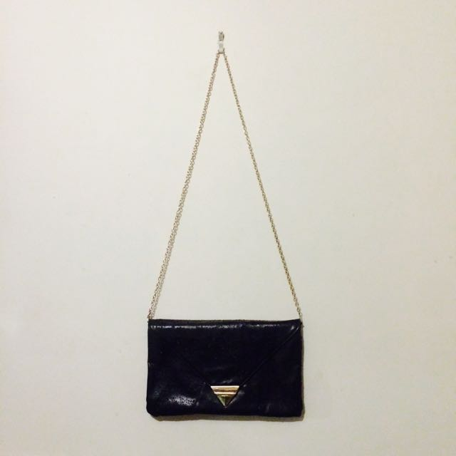 Black Over Sized Clutch