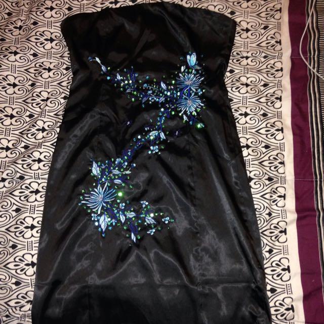 Black Strapless Luxx Dress L