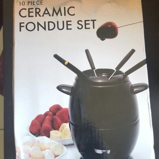 Ceramic fondue set BRAND NEW