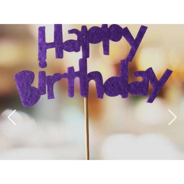 DIY Happy Birthday Cake Topper Banner Decoration Design Craft On Carousell