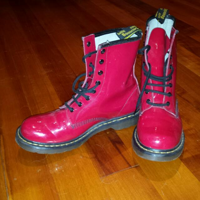 Doc Martens Boots Red