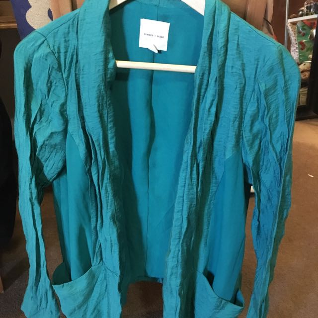 Emerald Green Urban Outfitters Blazer Jacket