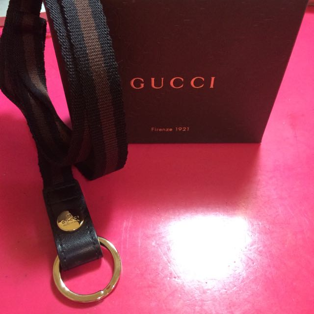 全新⚡️經典Gucci織帶掛繩