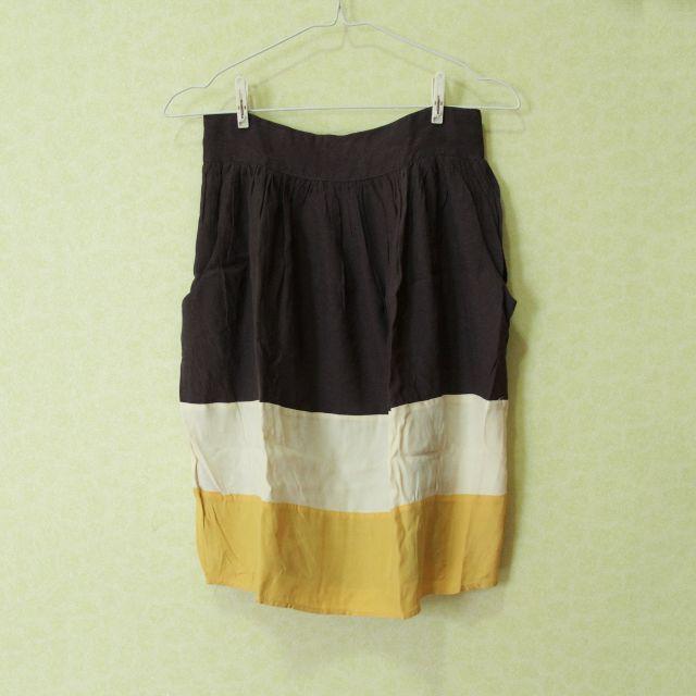 Mango Block Color Skirt