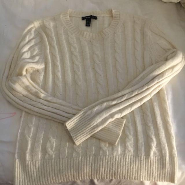 Mango Round Neck Knitted Sweater