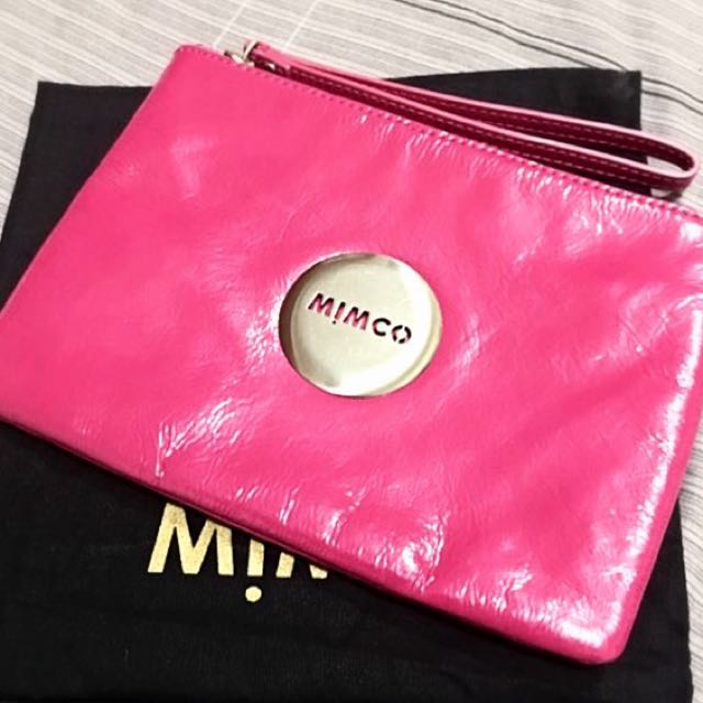 Mimco Medium Pouch In Pink