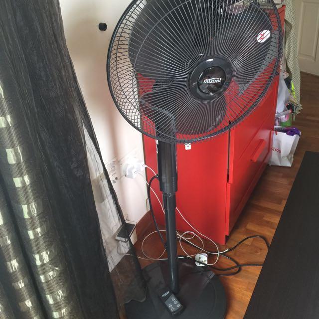 Mistral Remote Control Electric Fan