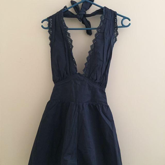 Navy Blue Playsuit