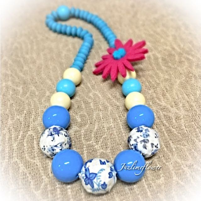 (New) Beaded Blue Necklace