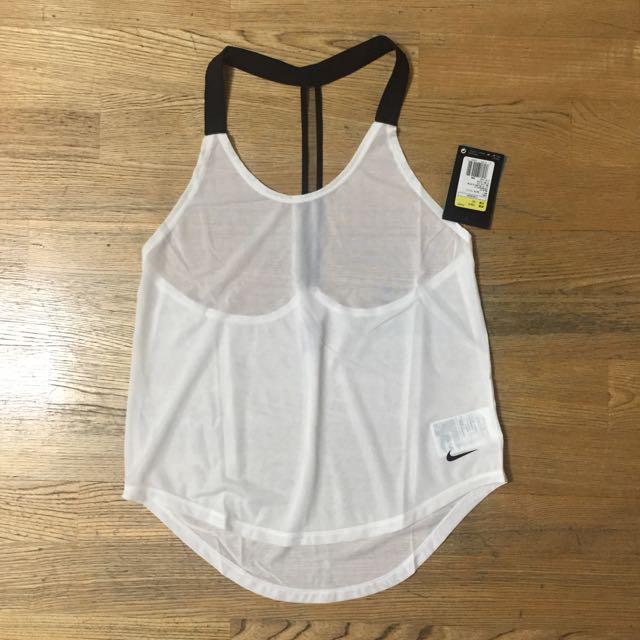 Nike 白色運動排汗女生背心 全新 S