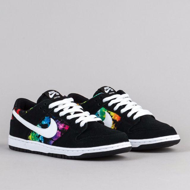 PO) Nike SB Dunk Low Pro (Black/Rainbow