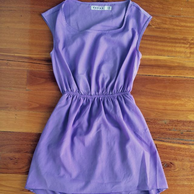 Purple dress Size Small Short At He Front, Long At The Back