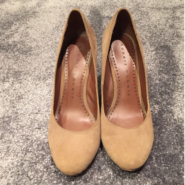 Robert Robert Nude Suade Wedge 37.5