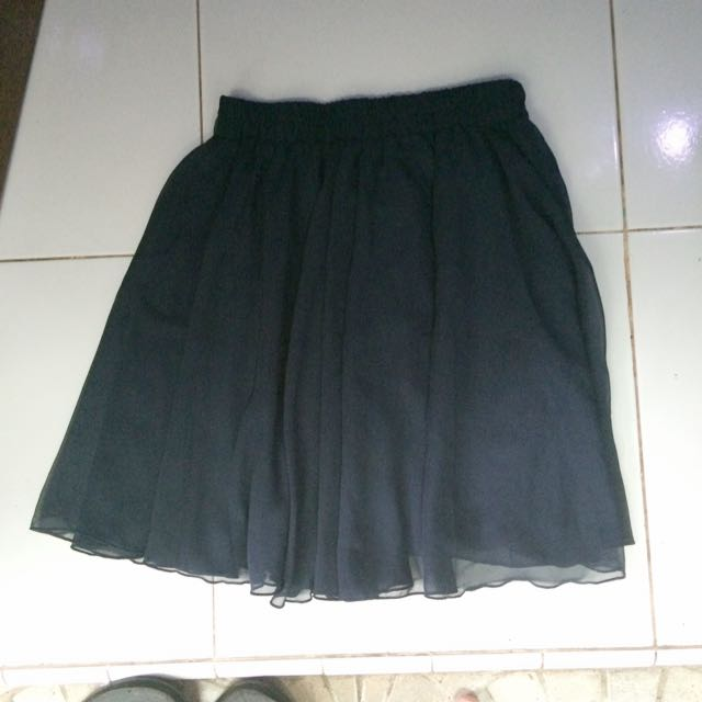 Rok Pendek Chiffon (dark blue skirt)