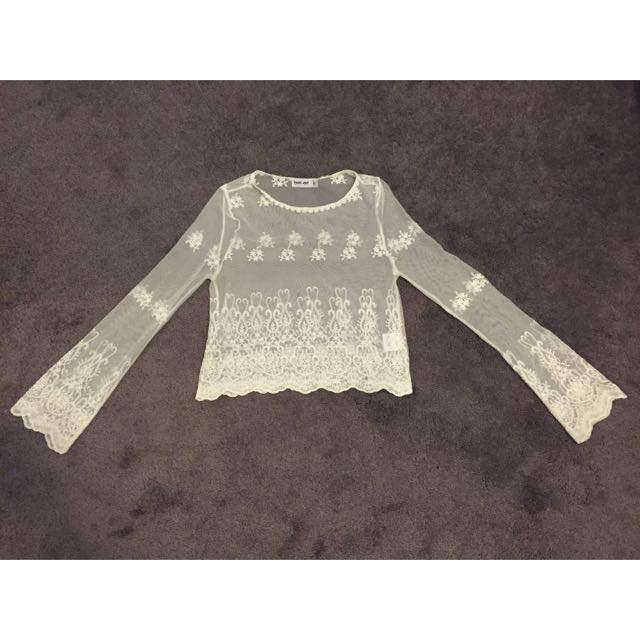 Tiger Mist Lace L/S top
