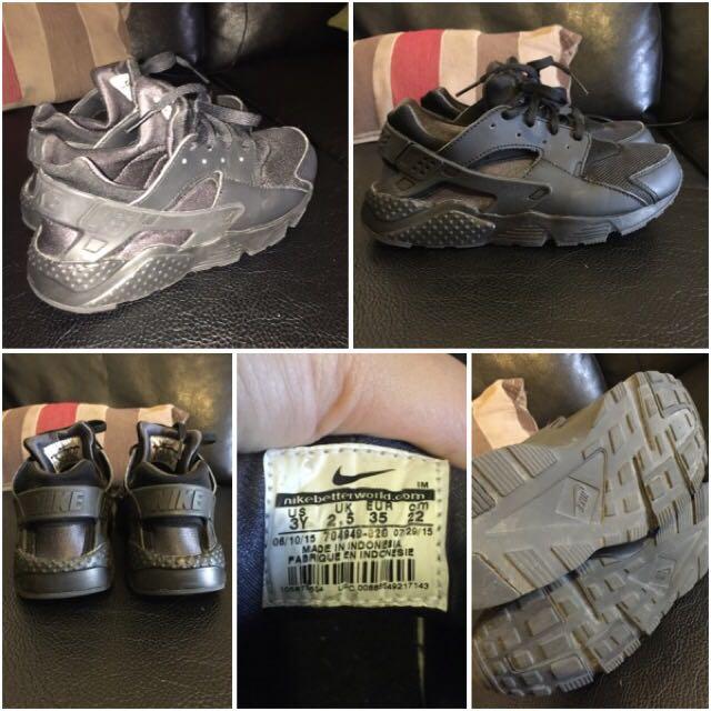 Triple Black Strap Nikes